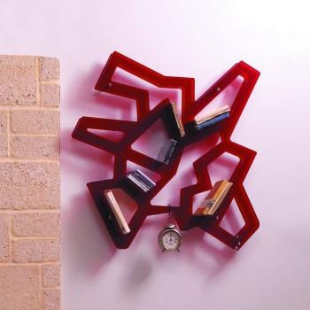 Libreria da parete in metacrilato rosso nero trasparente Macramè