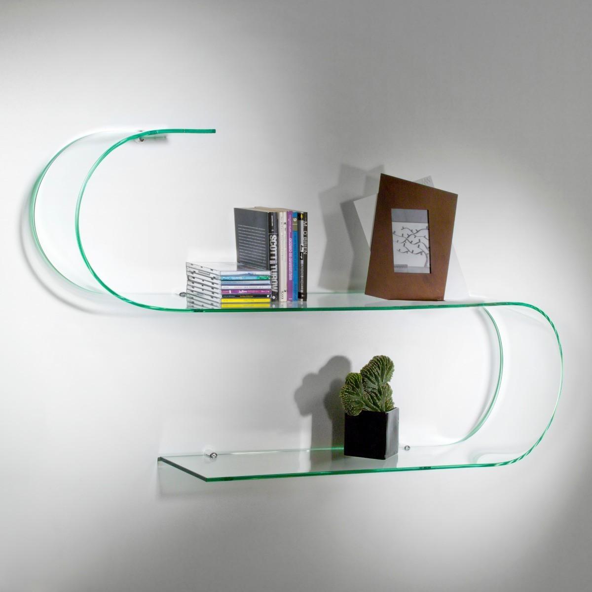 Surf bolis italia mensole in vetro curvato trasparente 100 cm - Mensole bagno ikea ...