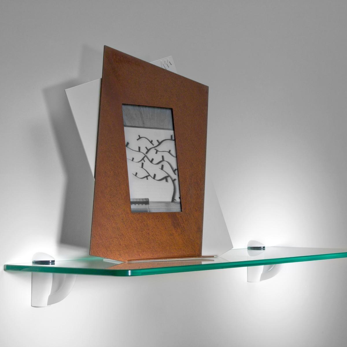 Linea set di 5 mensole in vetro trasparente 60 cm bolis italia - Mensole angolari bagno ...