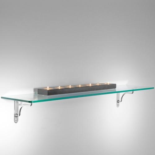 Linea Maxi set di 5 mensole in vetro trasparente 90 cm