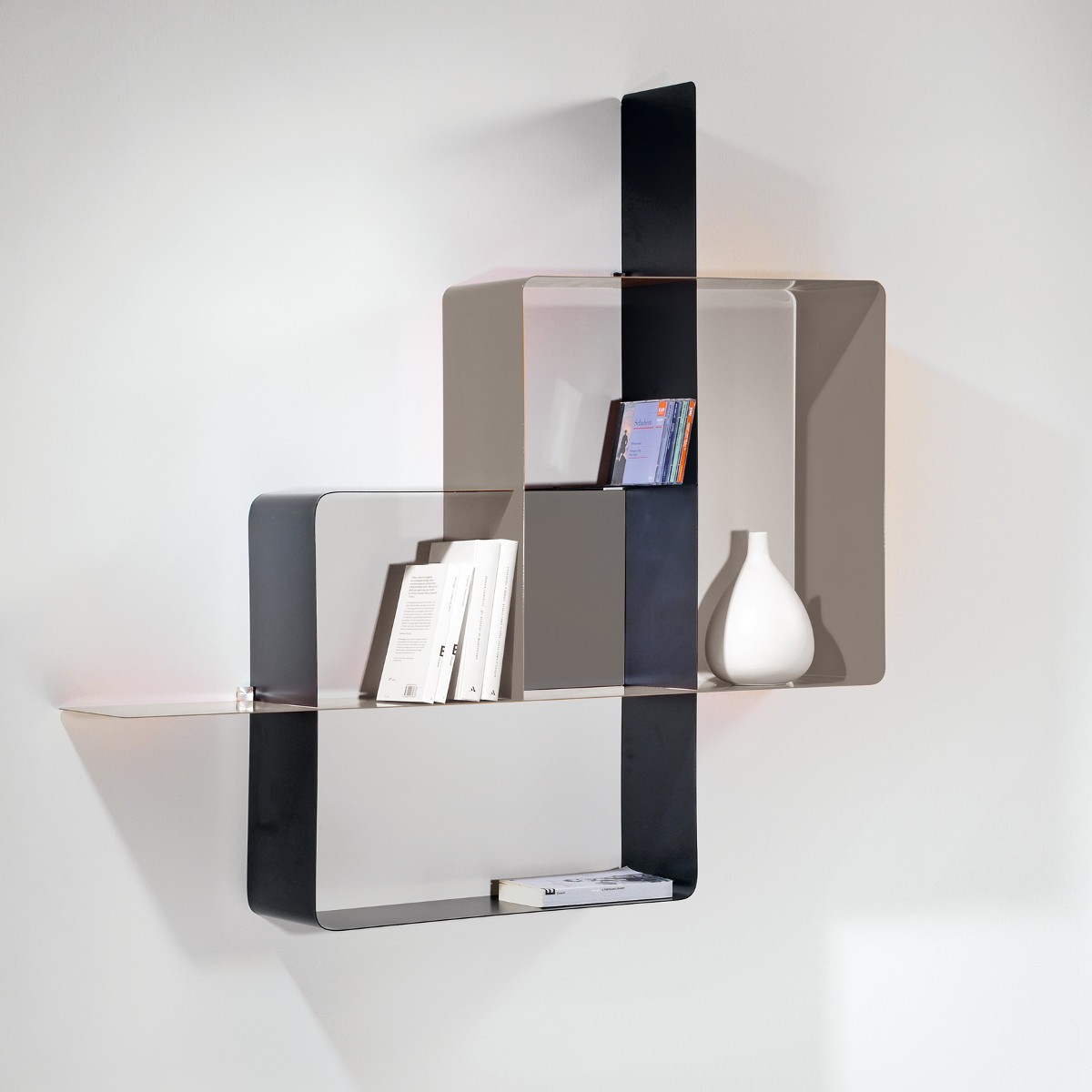 Libreria a parete moderna in metallo componibile design for Libreria da ufficio