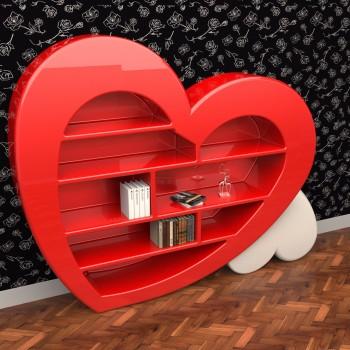 Libreria moderna a parete o divisoria Cuore by ZAD Italy