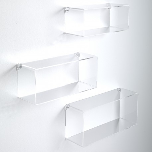 Set di 3 cubi mensole da parete in metacrilato Klever