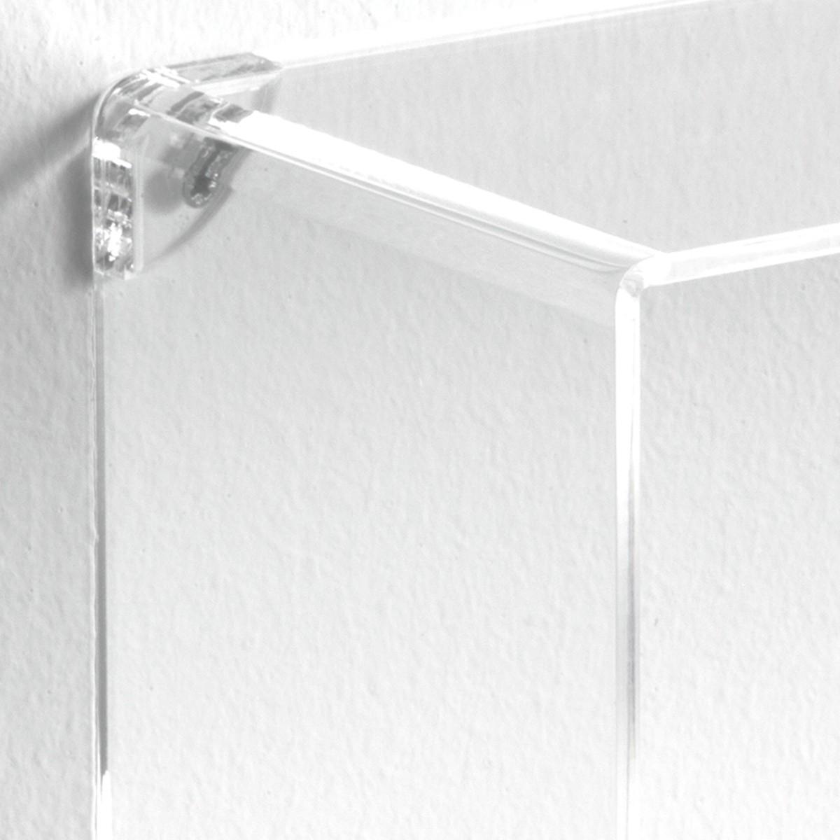 Set di 3 cubi mensole klever da parete in metacrilato for Arredamento mensole a parete