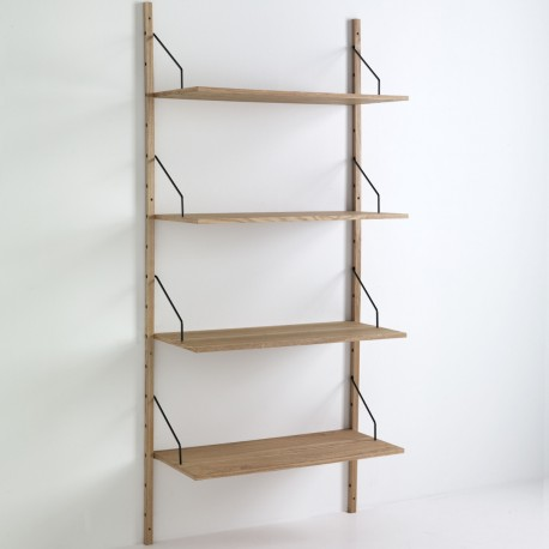 Libreria da parete Selfy in legno MDF 4 ripiani 85 x 180 cm