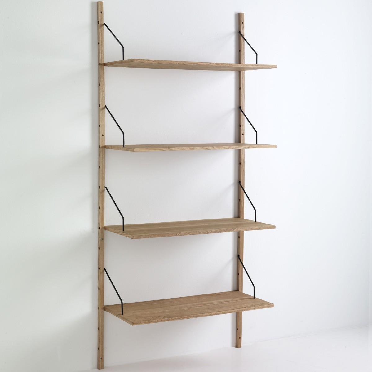 Libreria da parete selfy in legno mdf 4 ripiani 85 x 180 cm for Leroy merlin librerie