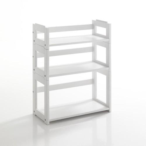 Libreria modulare Sheva 3 ripiani in legno massello bianco