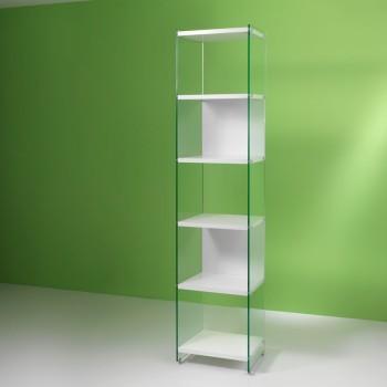 Libreria a colonna in legno e vetro 202 cm Byblos