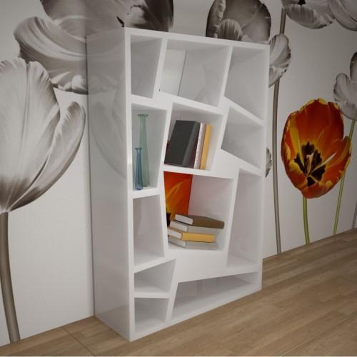 Libreria scaffale Christie Zad Italy Bianco Rosso Verde 125 x 200 cm