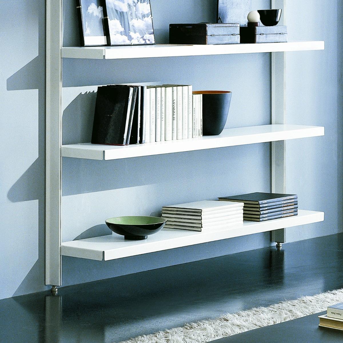 Scaffale metallico brody da parete in acciaio bianco 125 x - Scaffali a parete ...
