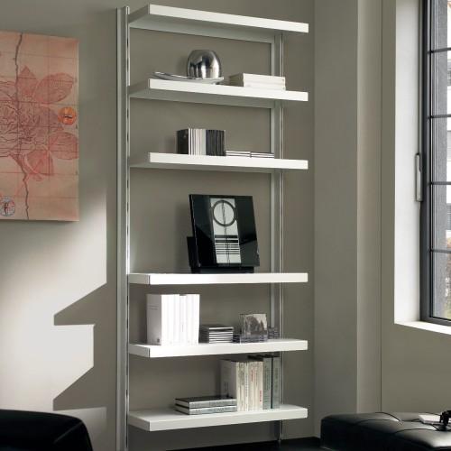 Scaffale in metallo big 15 a muro in acciaio bianco 85 x for Librerie angolari ikea
