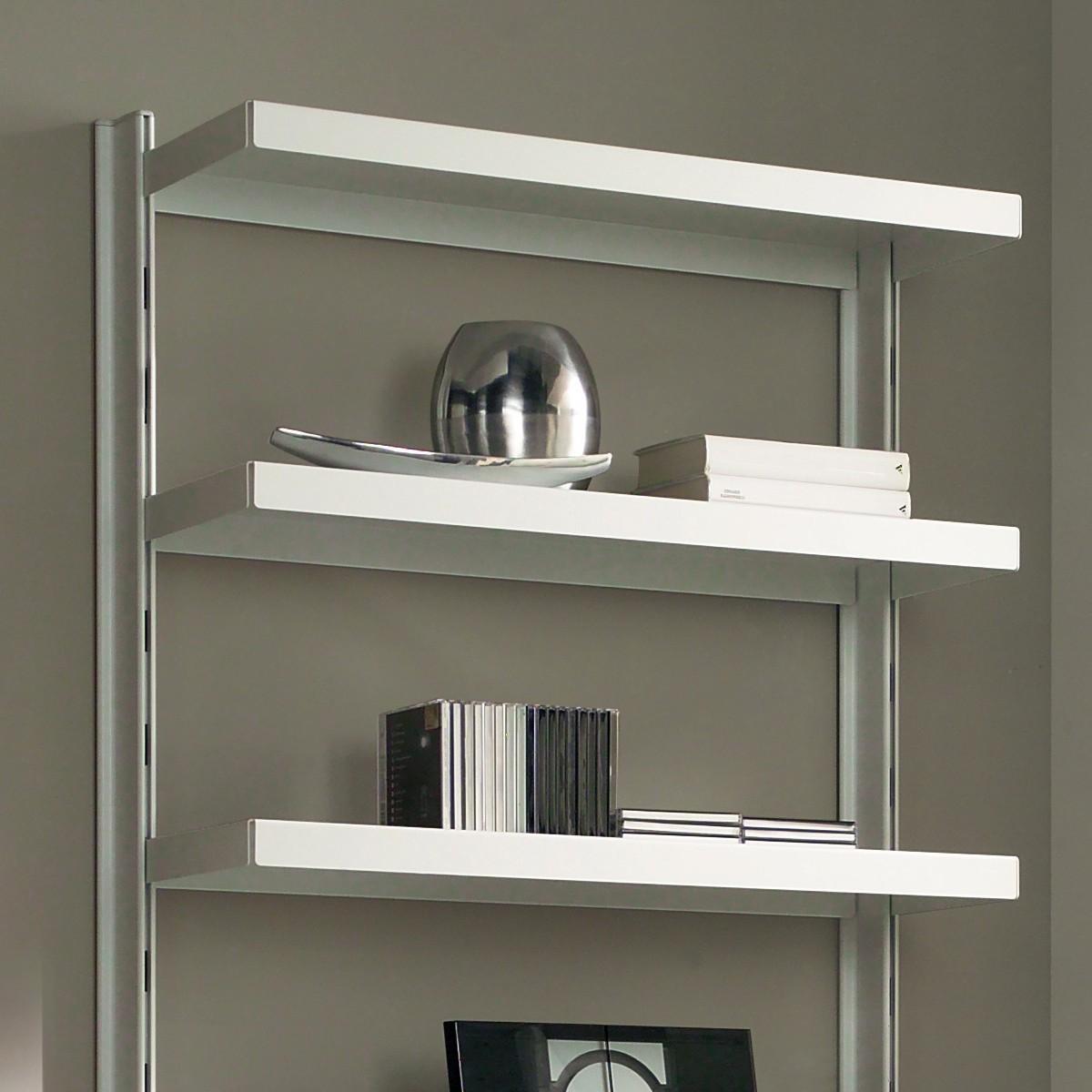 Scaffale in metallo big 15 a muro in acciaio bianco 85 x for Scaffali per ufficio acciaio