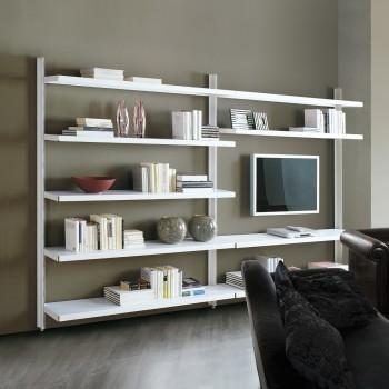 Scaffalatura metallica moderna in acciaio per soggiorno Big 12
