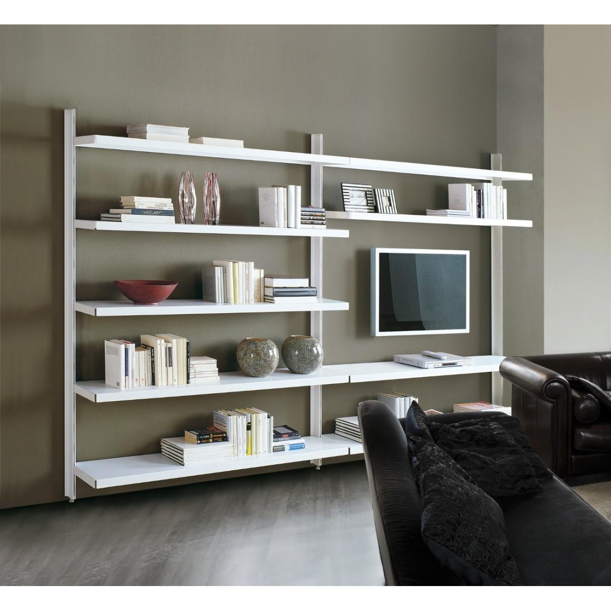 Scaffalatura metallica vidar in acciaio per soggiorno 325 for Scaffalatura libreria