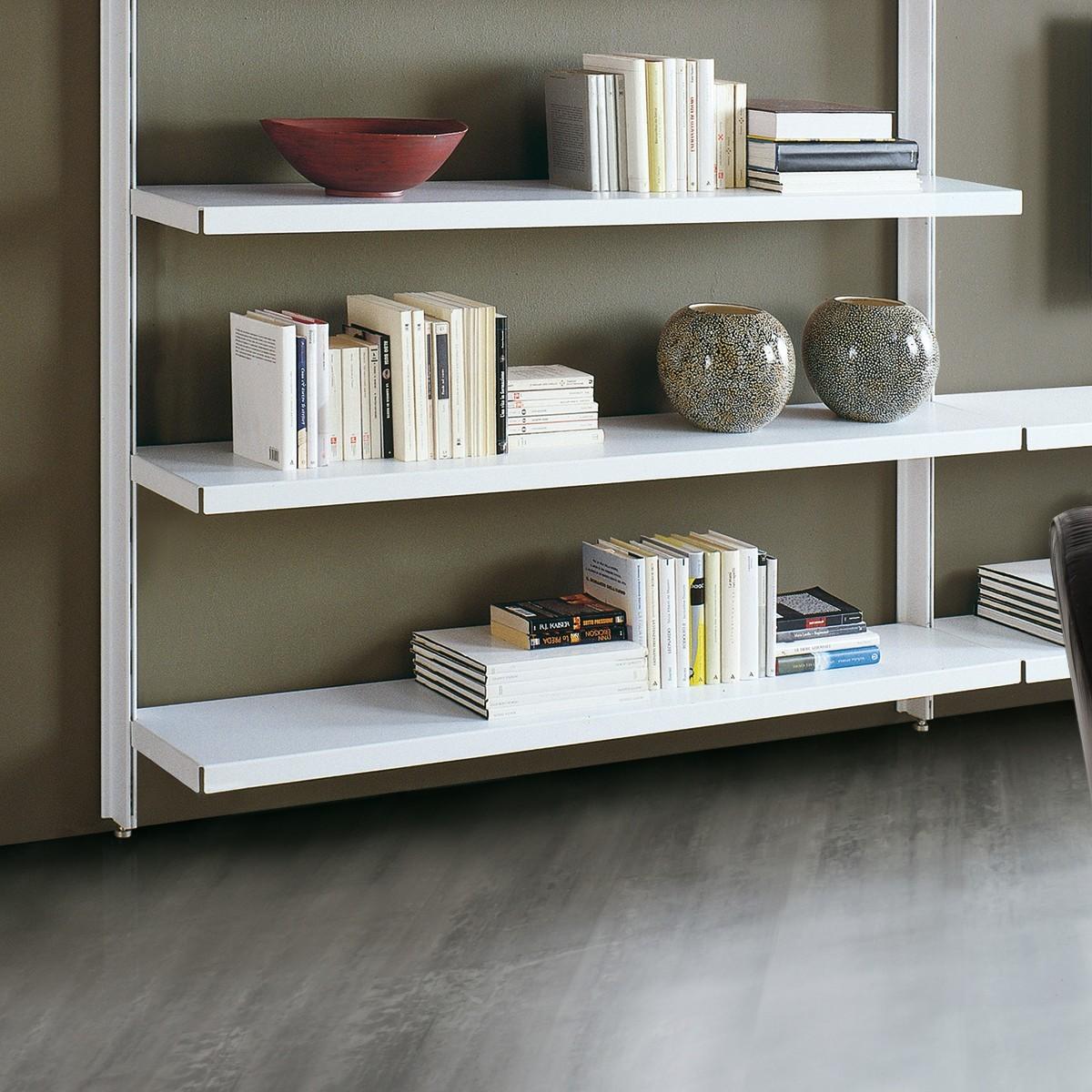 Scaffalatura metallica big 12 in acciaio per soggiorno 325 for Scaffalatura libreria