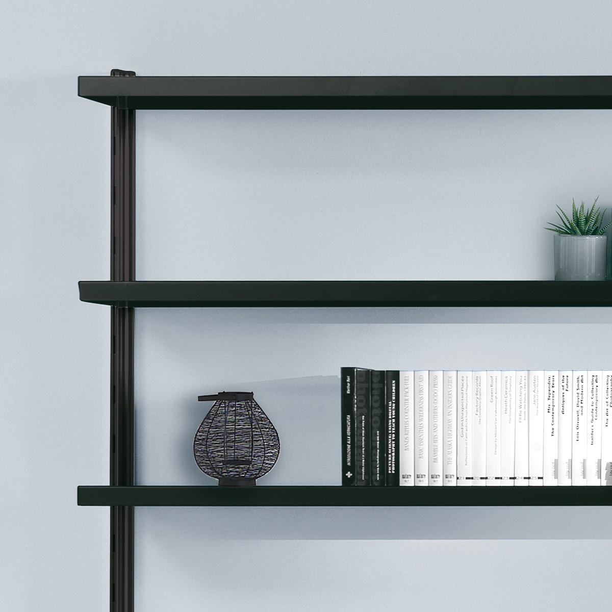 Scaffale in metallo viggo da parete per soggiorno 485 x 32 for Ikea scaffali metallo