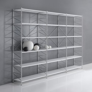 Mobili libreria componibili in metallo e legno dal design for Mensole economiche