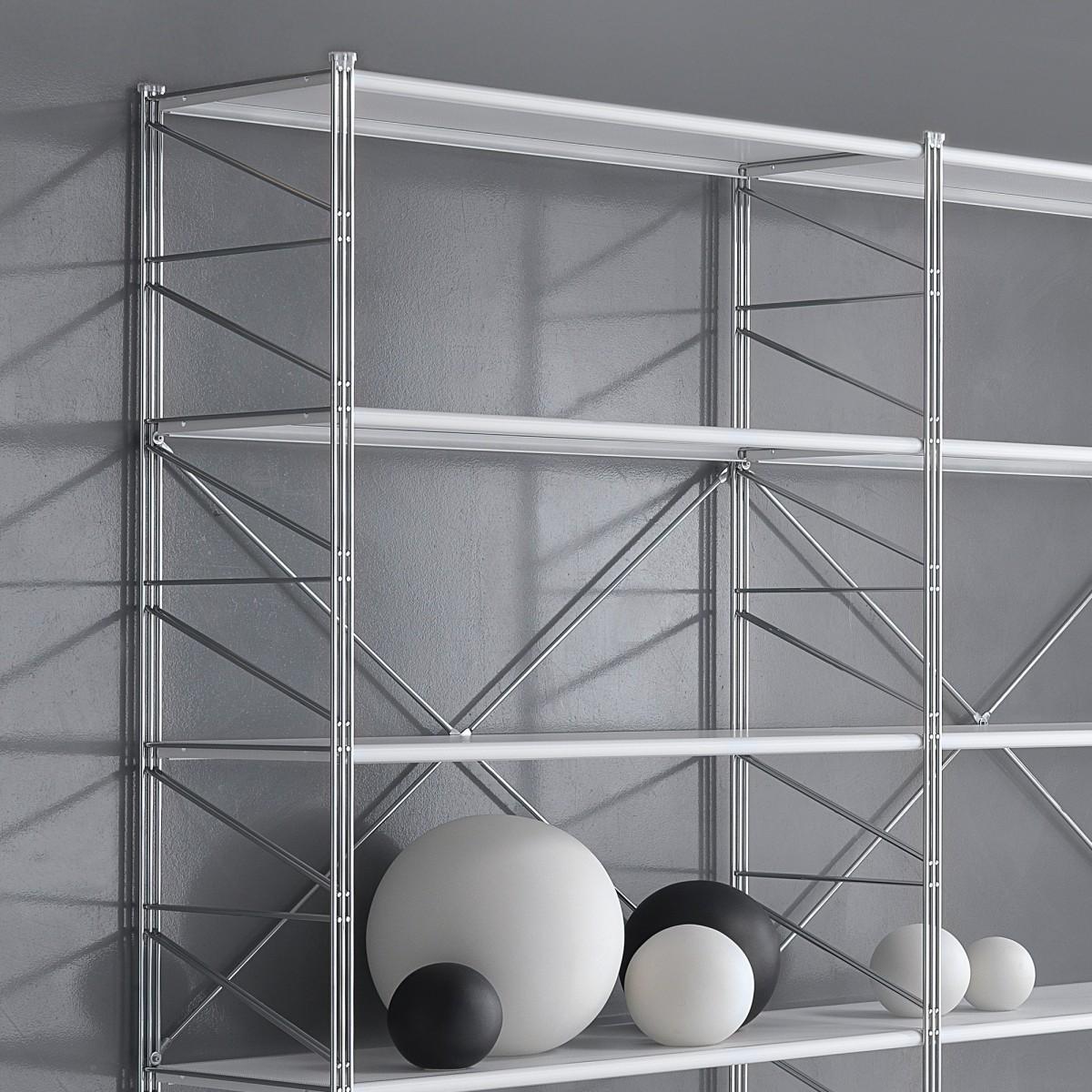Scaffale componibile Socrate 21 in metallo per ufficio 293 x 35 x h200 cm