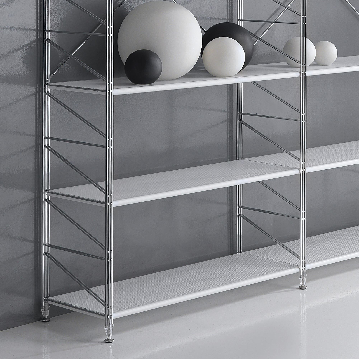 Kalevi scaffale componibile metallo per ufficio 293 x 35 x - Scaffalature in legno ikea ...