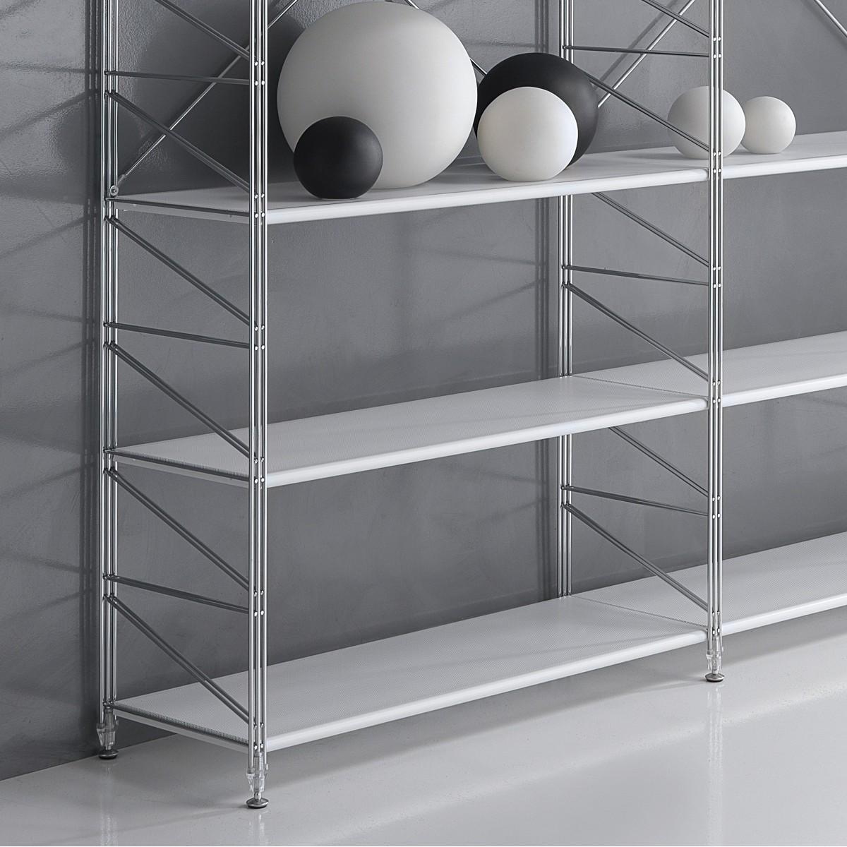 Scaffale componibile socrate 21 in metallo per ufficio 293 for Ikea scaffali in metallo