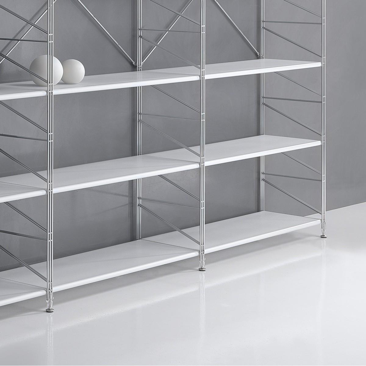 Scaffalature Acciaio Cromato Componibili.Scaffale Componibile In Metallo Per Ufficio Moderno Socrate 21