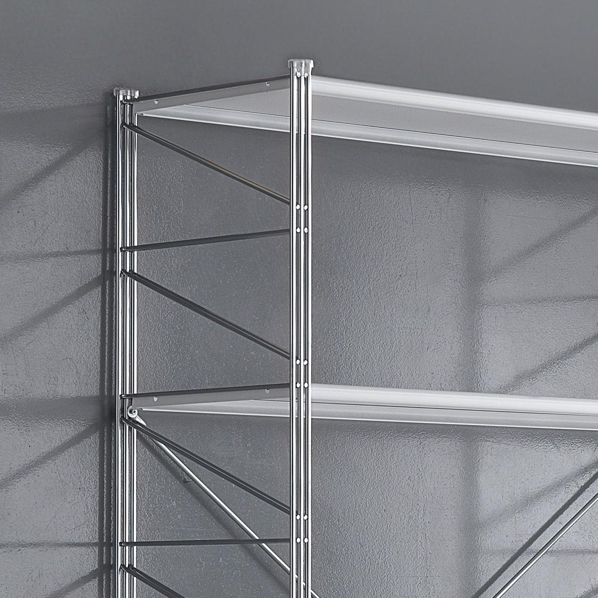 Scaffali In Metallo Cromato.Scaffale Componibile In Metallo Per Ufficio Moderno Socrate 21