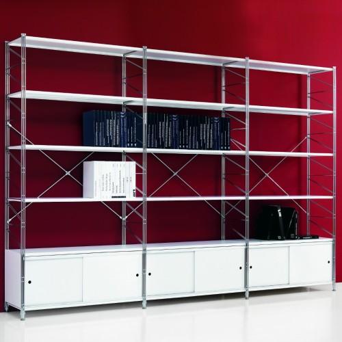 Socrate 22 scaffale modulare con ante scorrevoli 293 x 35 x h200 cm