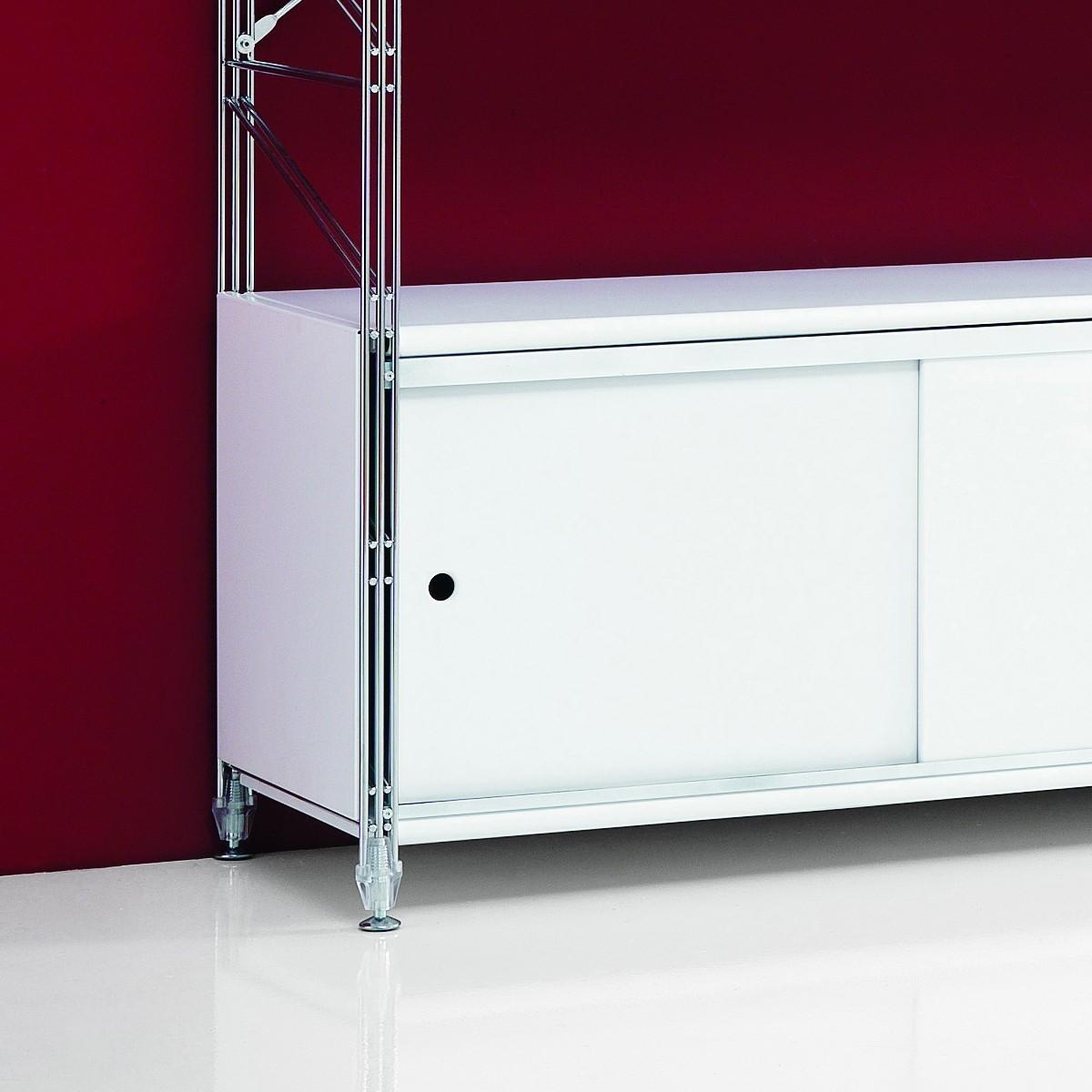 Scaffali Con Ante Scorrevoli.Scaffale Modulare Con Ante Scorrevoli Design Moderno Socrate 22