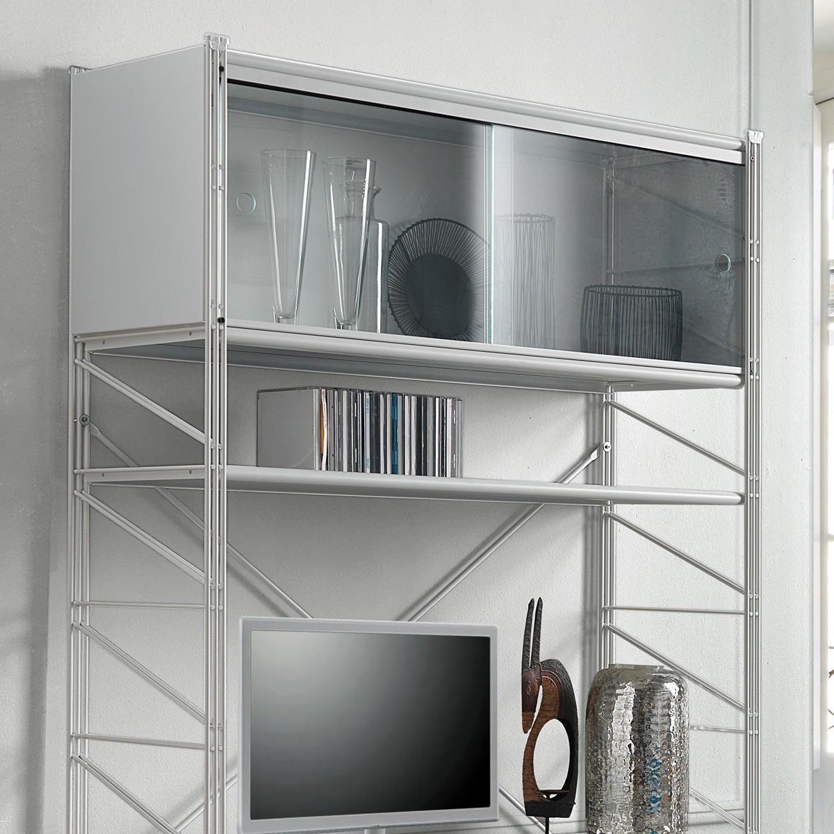 Cheap libreria scaffale per soggiorno in acciaio bianco x x with scaffali per ripostiglio - Cantinetta vini ikea ...