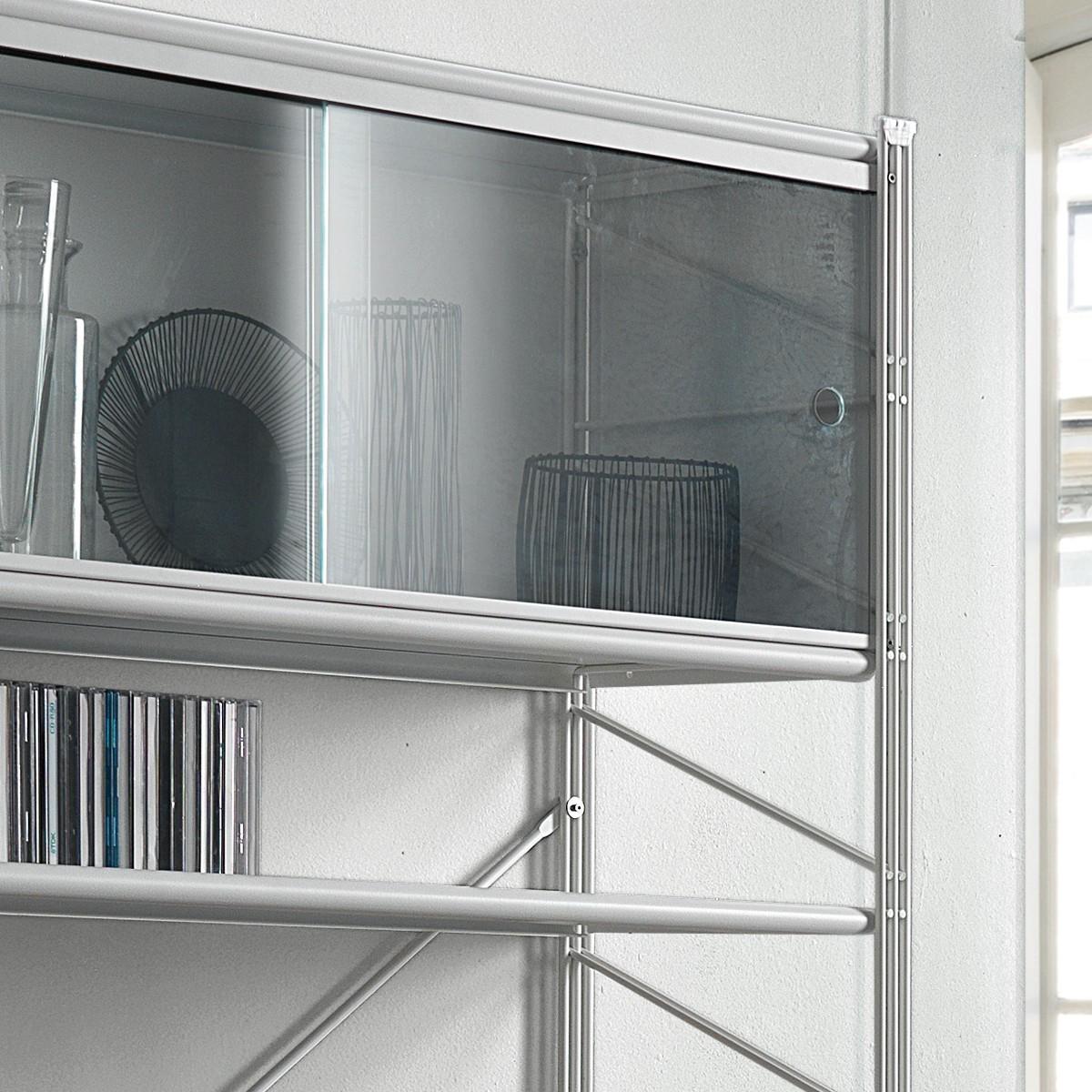 Fabulous libreria scaffale per soggiorno in acciaio bianco for Arredamento panetteria ikea