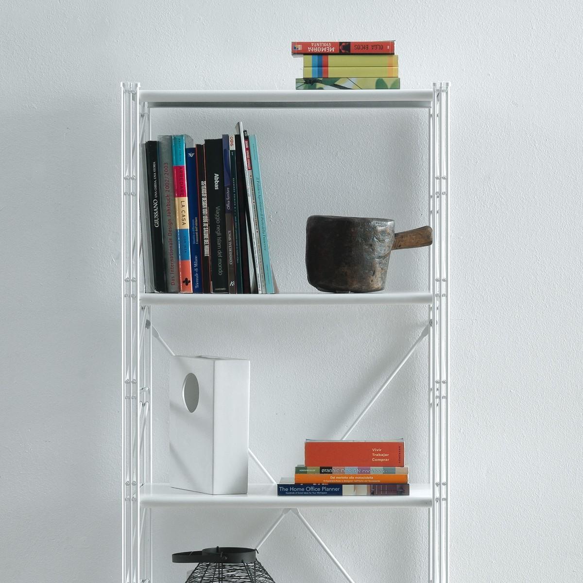 Socrate 154 scaffale a colonna in acciaio bianco 60 x 35 x for Scaffali design