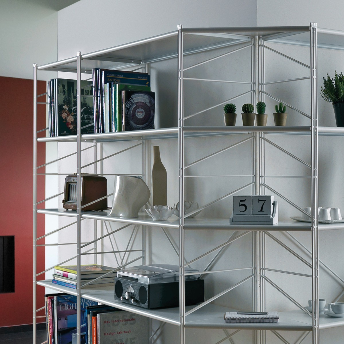 Socrate 155 libreria angolare componibile per soggiorno for Libreria angolare componibile
