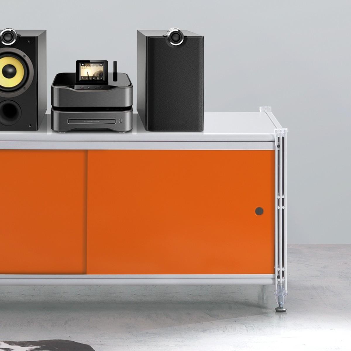 Socrate 156 scaffale basso in metallo con ante scorrevoli - Ikea mobile metallo ...