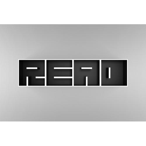 ABC Read libreria a forma di lettere componibile in legno 204 x 51 cm