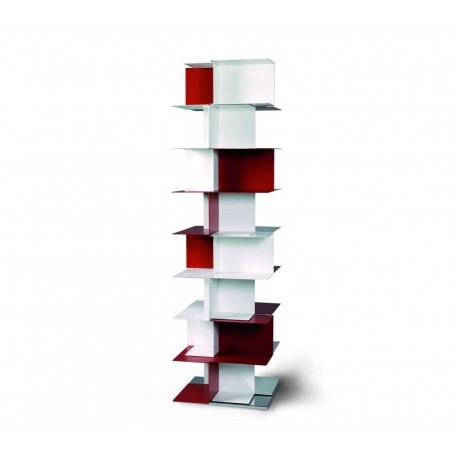 Libreria autoportante a colonna in acciaio design moderno Babel