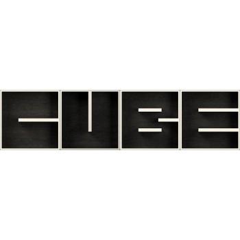 ABC CUBE libreria con lettere modulare in legno 204 x 51 cm
