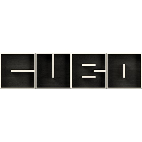 ABC CUBO libreria modulare a parete in legno bianco nero 204 x 51 cm