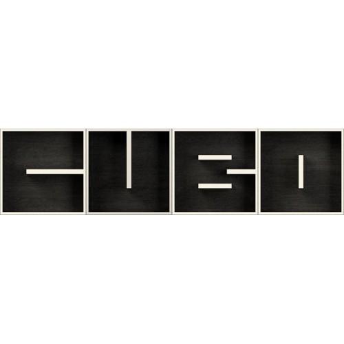 Libreria modulare a parete in legno lettere alfabeto ABC CUBO