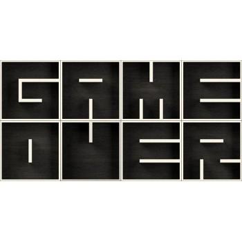 ABC GAME OVER mensole cubo design in legno laminato 204 x 102 cm