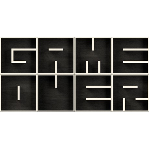 Mensole cubo design in legno laminato ABC GAME OVER