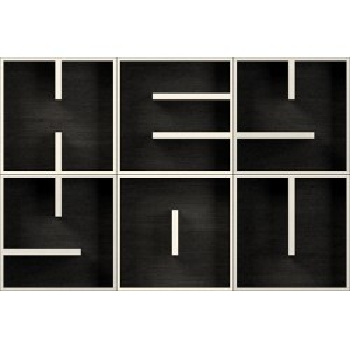 ABC HEY YOU cubi da parete arredamento in legno 153 x 102 cm