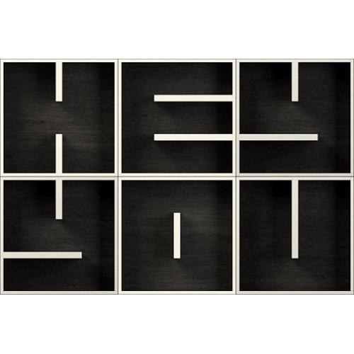 Cubi da parete arredamento lettere alfabeto ABC HEY YOU