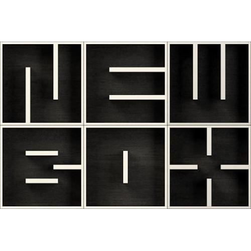 ABC NEW BOX cubi in legno per arredare da parete 153 x 102 cm