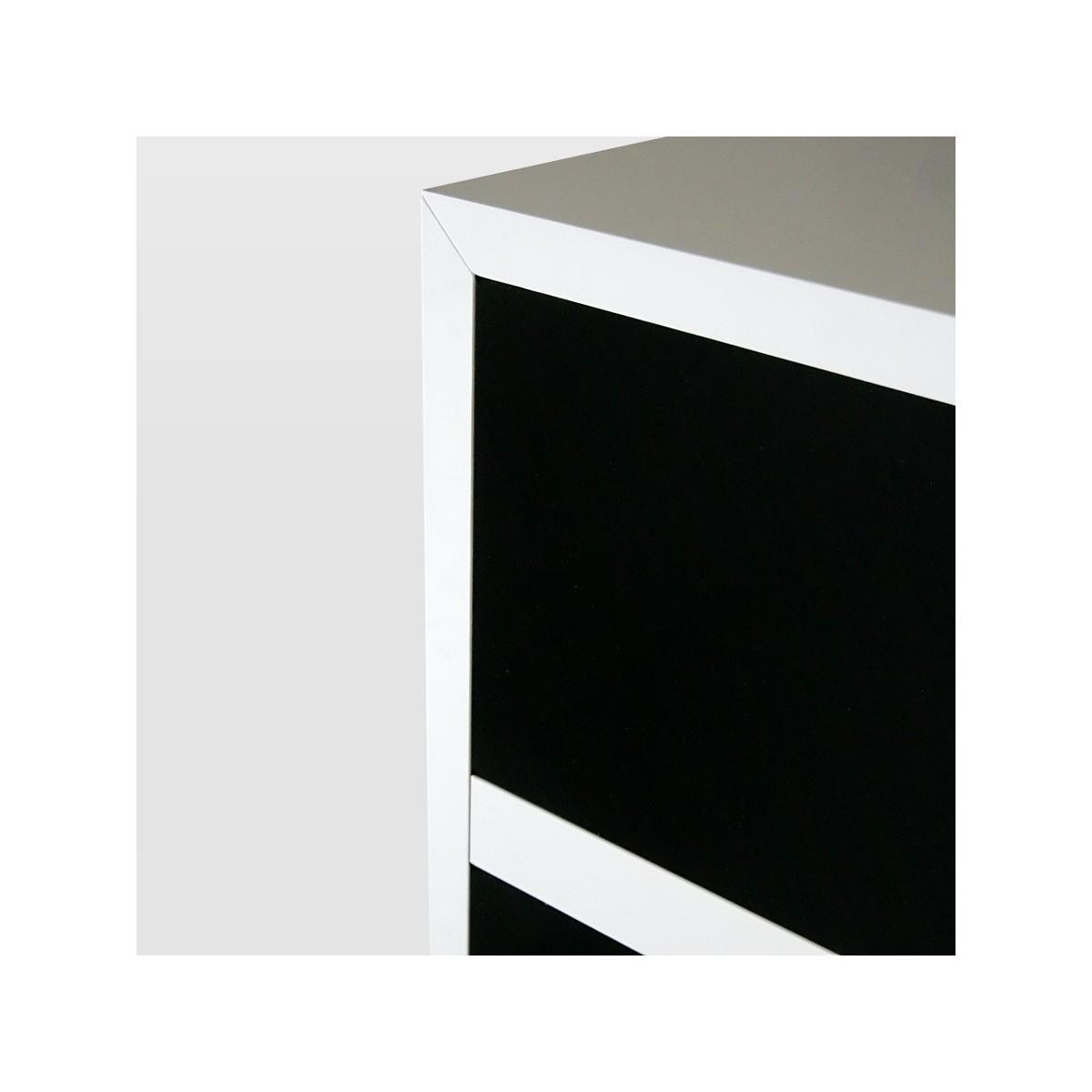 Abc squared cubi da arredamento legno bianco nero 357 x 51 cm for Cubi in legno arredamento