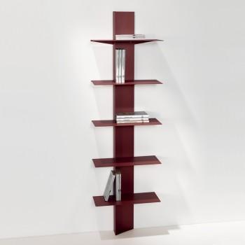 Costruire Mensole Per Libreria A Muro.Librerie Moderne A Colonna Per Il Soggiorno In Legno O Metallo