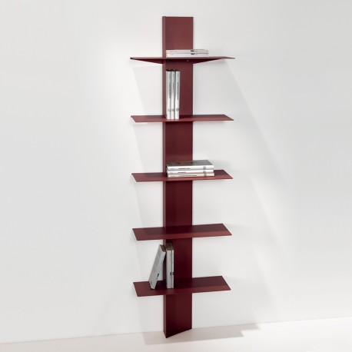 Libreria da parete in acciaio a colonna 45 x 160 cm Lift