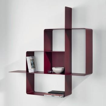 Libreria moderna in metallo Mondrian componibile a muro