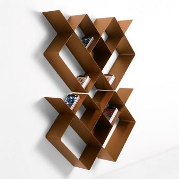 Libreria modulare in acciaio portata 140kg 125x25x166 cm Mondrian-1