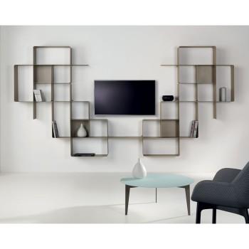 Scaffale modulare in acciaio design moderno Mondrian-9