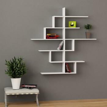 libreria a muro design moderno in legno 150 x 150 cm